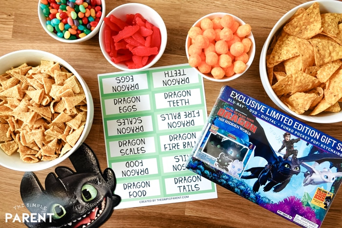 How To Train Your Dragon Party Snack Ideas and Movie DVD
