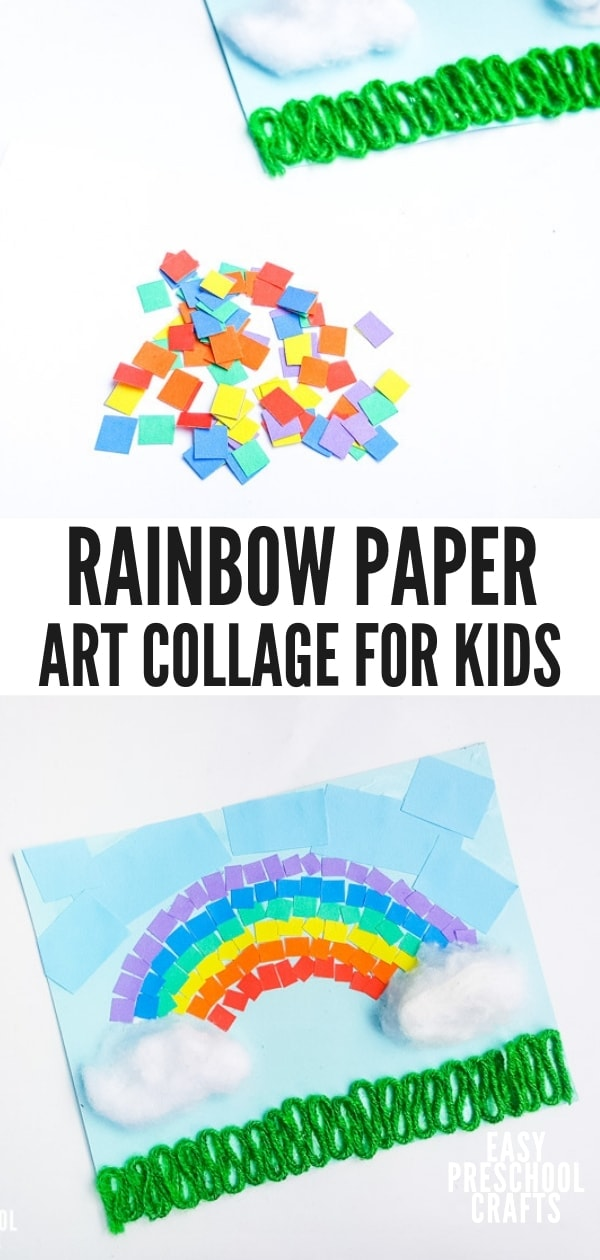 Rainbow Paper Craft for Preschool