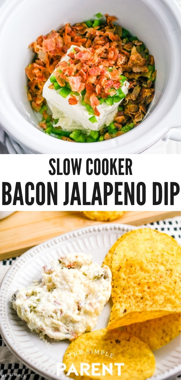Slow Cooker Jalapeno Popper Dip with Bacon Recipe