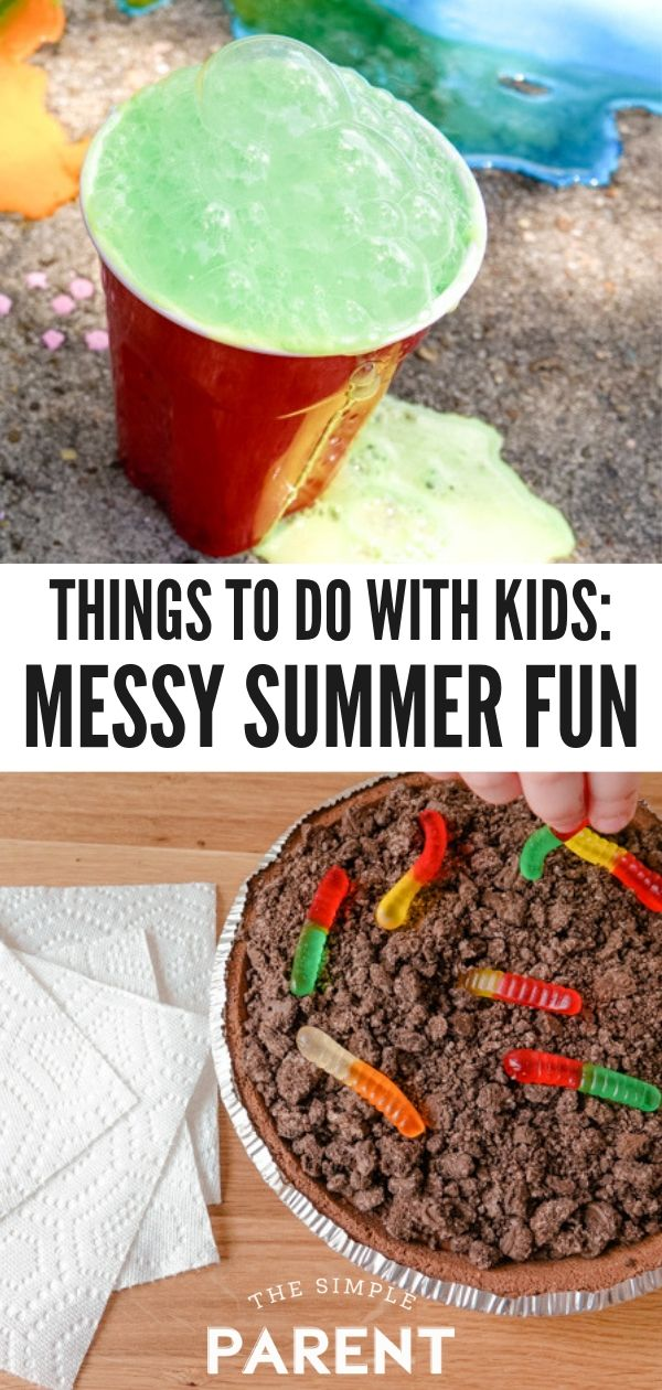 Summer Activities for Kids That Can Be Messy