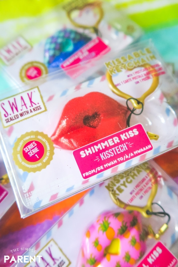 SWAK sealed with a kiss kissable keychains