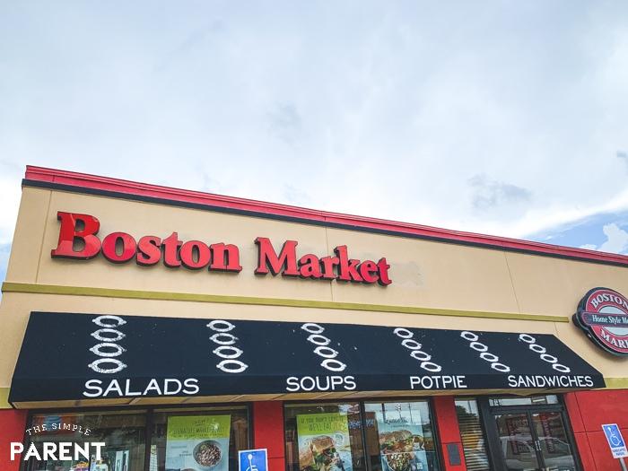 Exterior of Boston Market restaurant