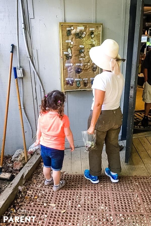 Granddaughter and grandmother gem mining