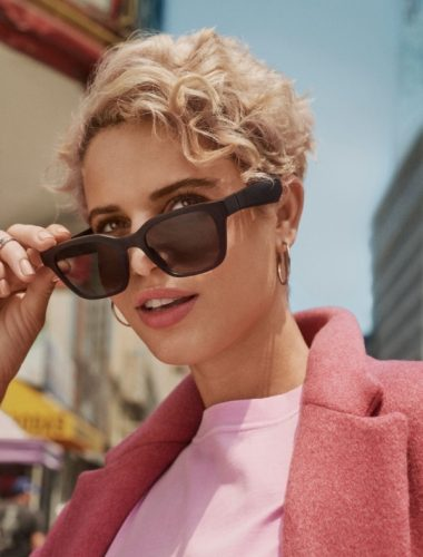 Woman wearing Bose Audio Sunglasses available at Best Buy