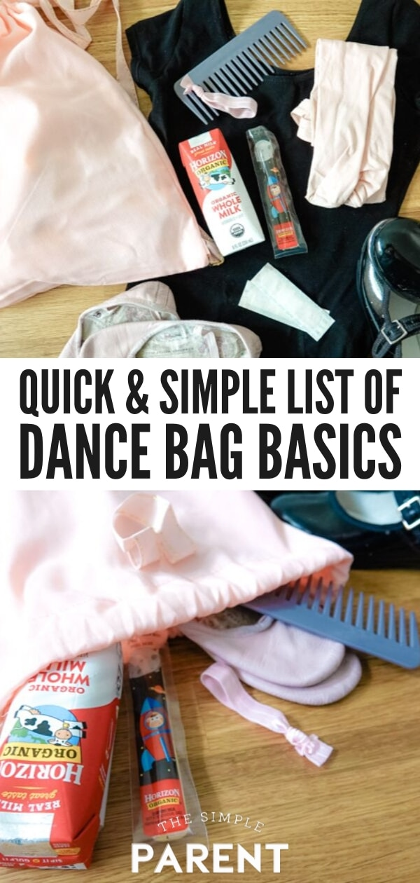 List of Dance Bag Must Haves for Busy Moms