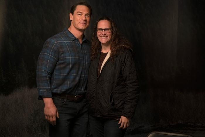 John Cena and Mariah Moon on the set of Playing with Fire