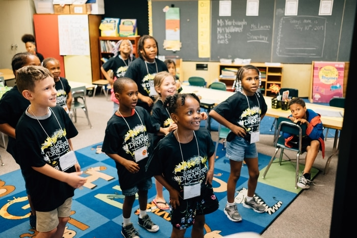 Children at the Summer Dreamers Academy in Pittsburgh. The program is part of Remake Learning and HundrED's spotlight on educational innovation.