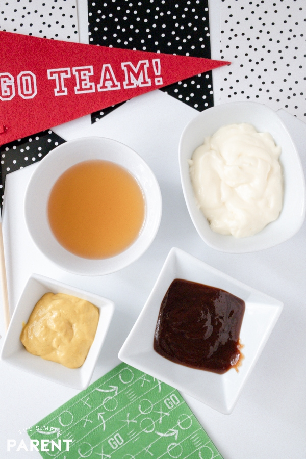 Ingredients to make the best chicken dipping sauce