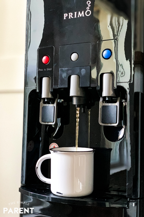 Brewing K cup coffee with the Primo hTRIO water dispenser