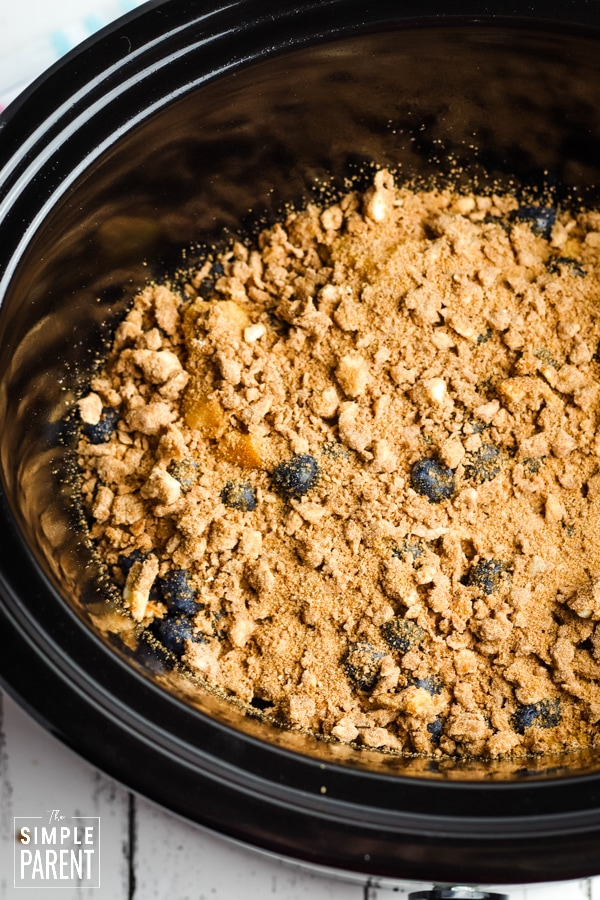French toast topping in a slow cooker