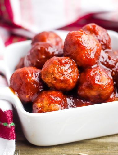 Bowl of Crockpot Meatballs