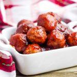 Bowl of Crockpot Meatballs