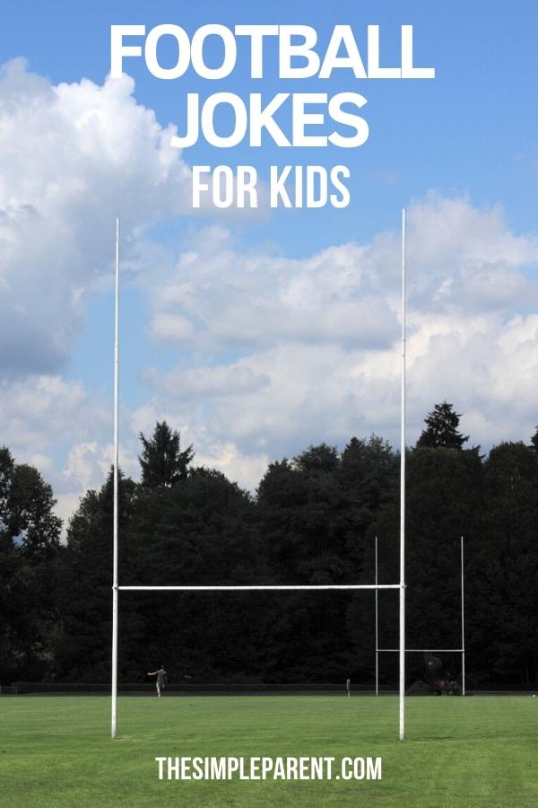 Photo of football goal post for list of football jokes for kids