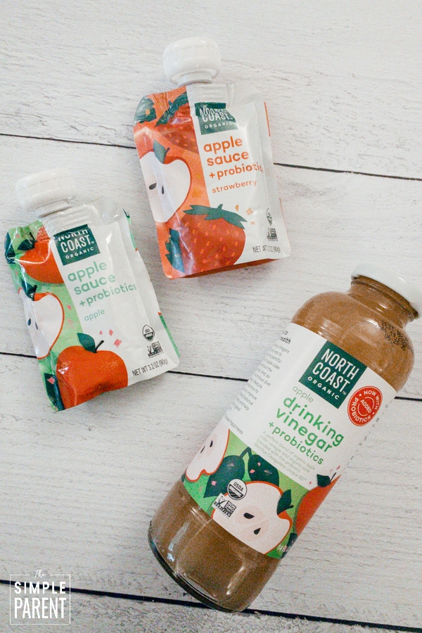 North Coast Organic organic apple sauce pouches and Apple Drinking Cider