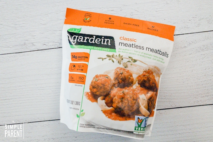 Bag of Gardein Classic Meatless Meatballs