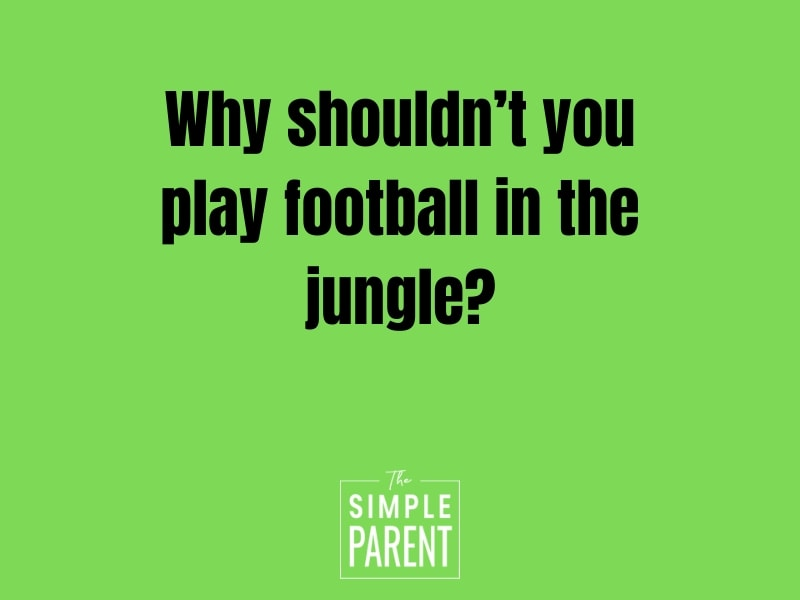Why shouldn't you play football in the jungle? (Kids Football joke)