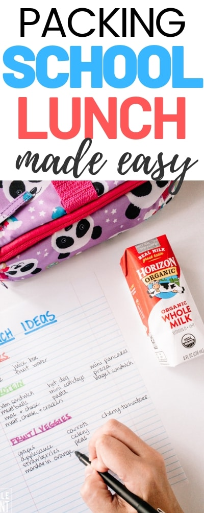 Don't let packing school lunch get you down! If you're stuck in a rut, learn how to pack school lunch the easy way! You just need a few minutes to make a list and you'll be prepared for the school year!
