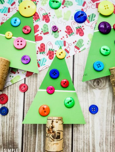 Paint Chip Christmas Tree Craft