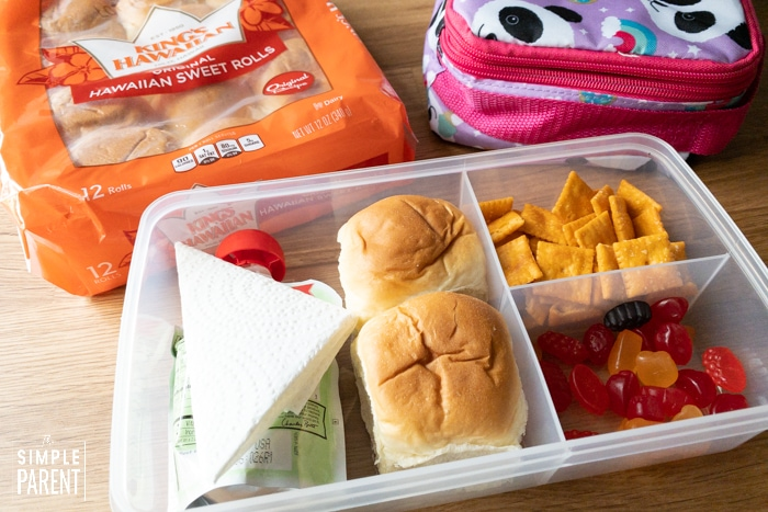 King's Hawaiian Secret Sandwiches for School Lunch Ideas