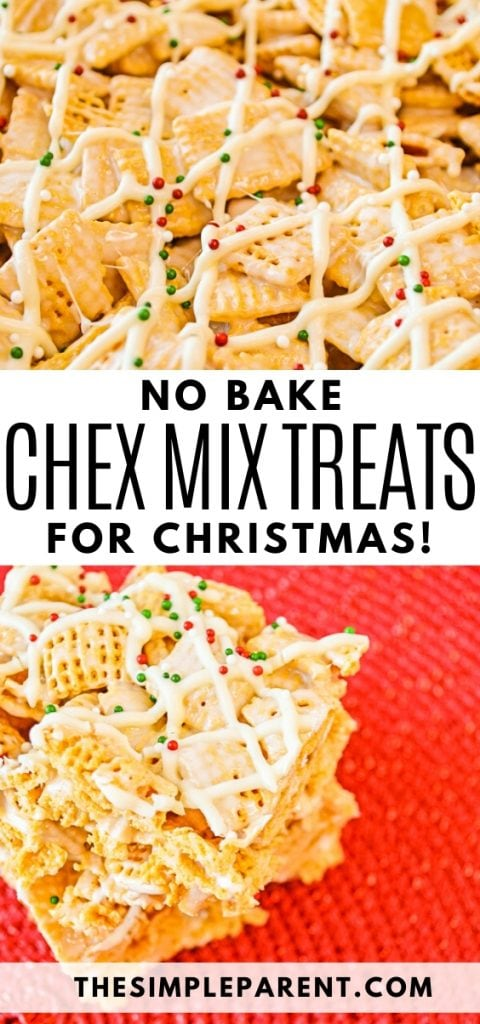 No Bake Chex Mix Christmas Treats