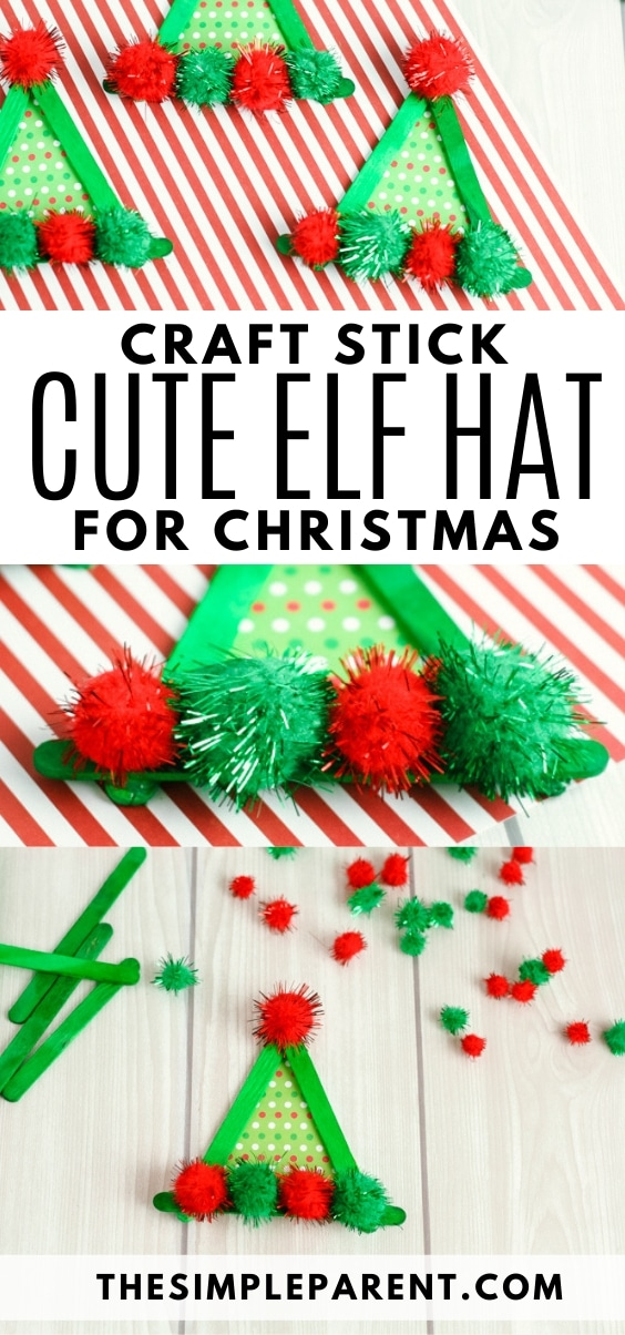 Craft Stick Christmas Elf Hat Craft