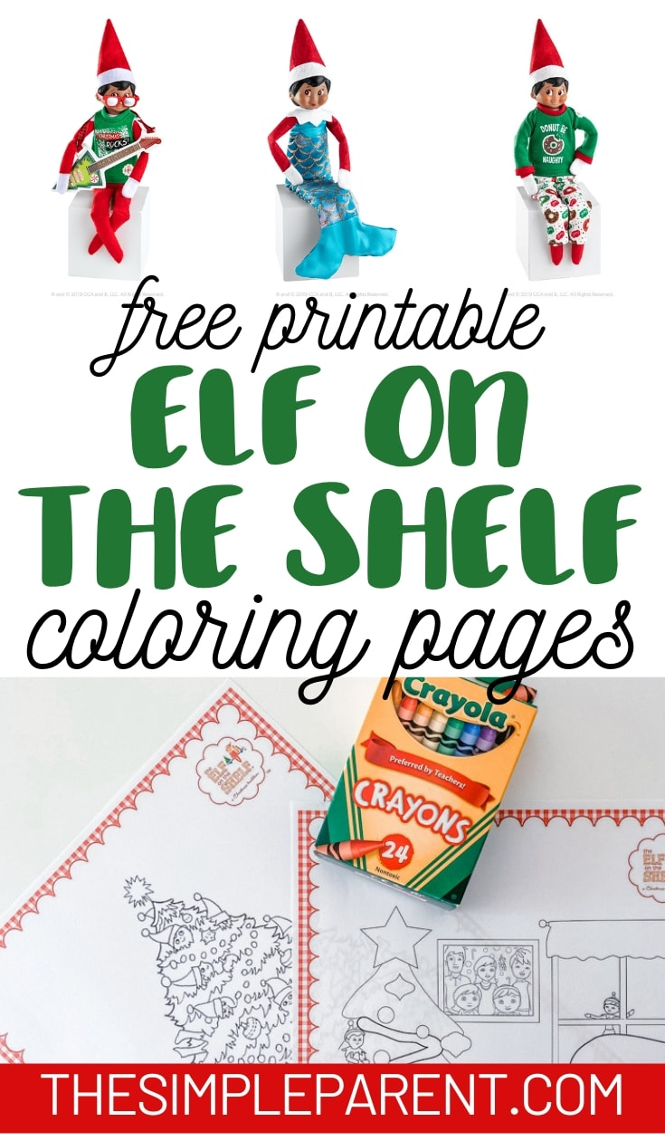 - Elf On The Shelf Coloring Pages (Free Printables) • The Simple Parent