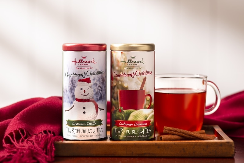 Hallmark Holiday Moments Giveaway package including Republic of Tea holiday tea