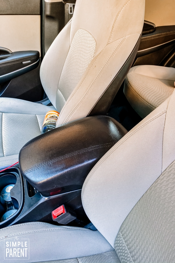 Interior of family car
