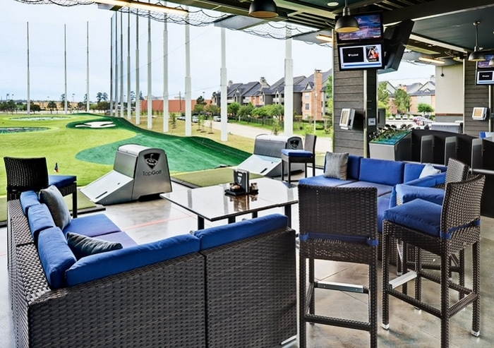 Golf bay at Topgolf Spring Texas location