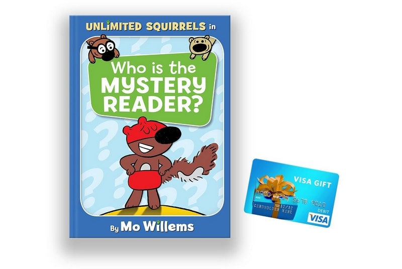 Unlimited Squirrels series giveaway including Who is the Mystery Reader? book and a $50 gift card