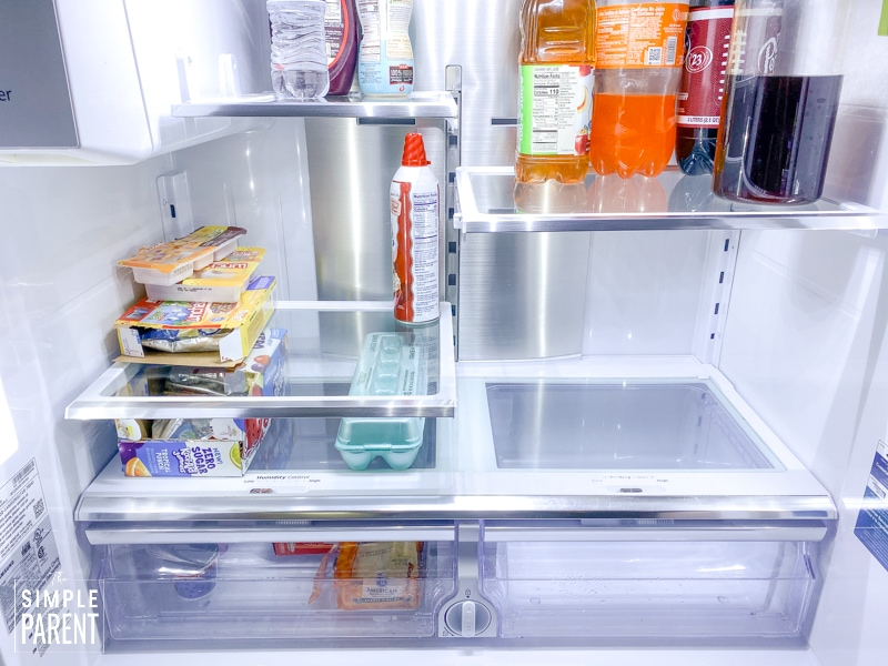 Clean and organized refrigerator