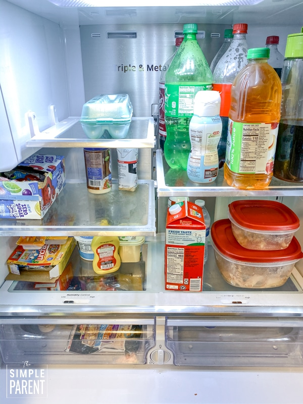 Refrigerator full of food