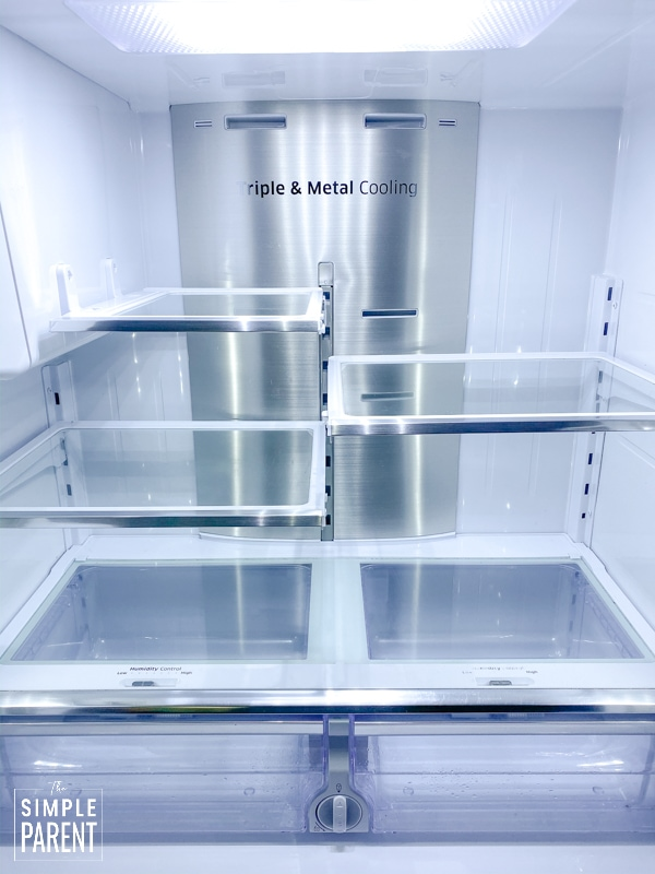 Clean and empty refrigerator