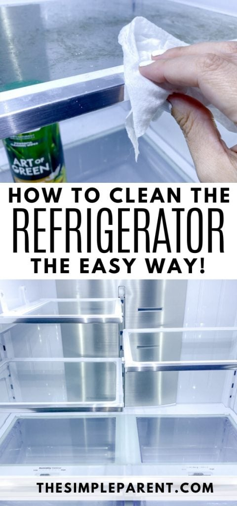Steps for how to clean the refrigerator