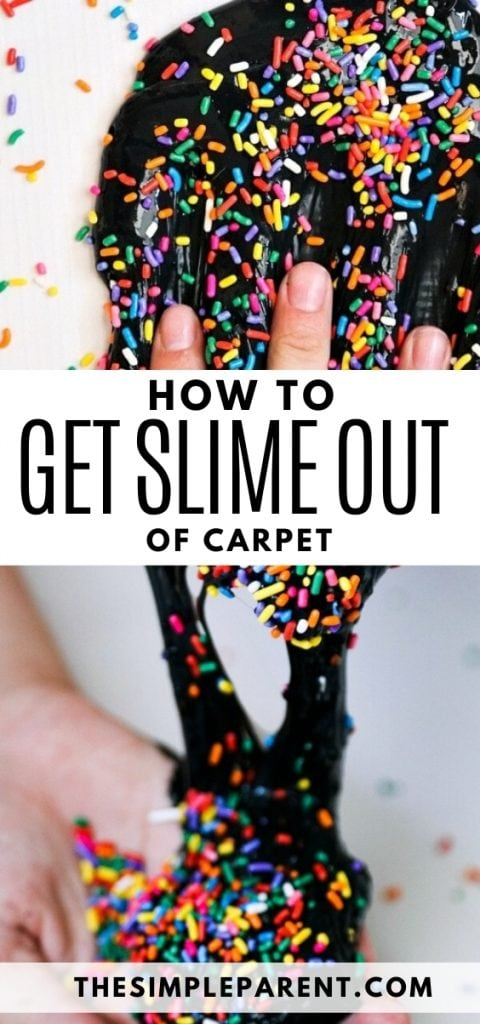 Tips for getting black slime and other slime out of carpet, clothes, and hair