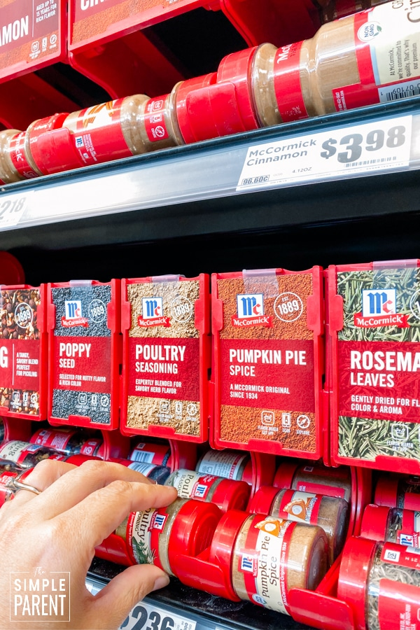 McCormick Herbs & Spices display at HEB grocery store