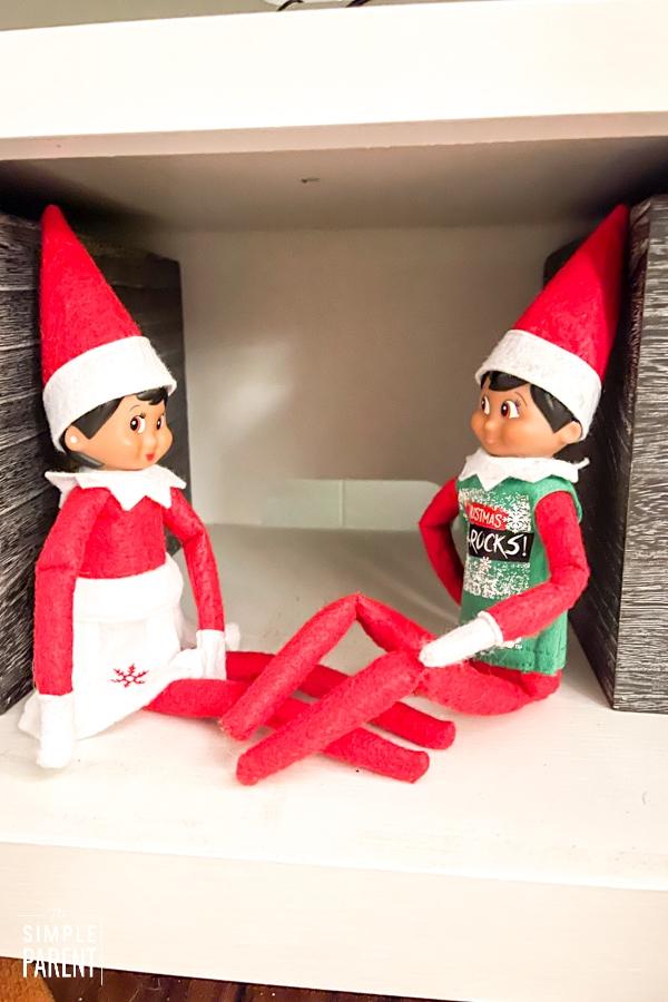 Elf on the Shelf sitting on the shelf