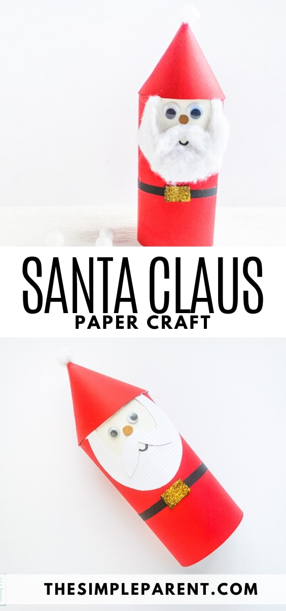 Learn how to make Santa Claus out of paper