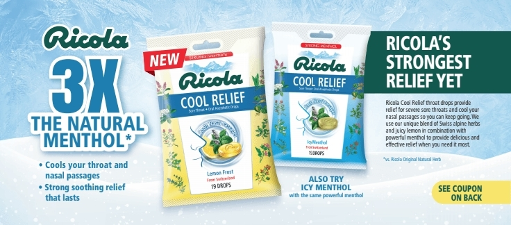 Ricola coupon found in Valpak envelope