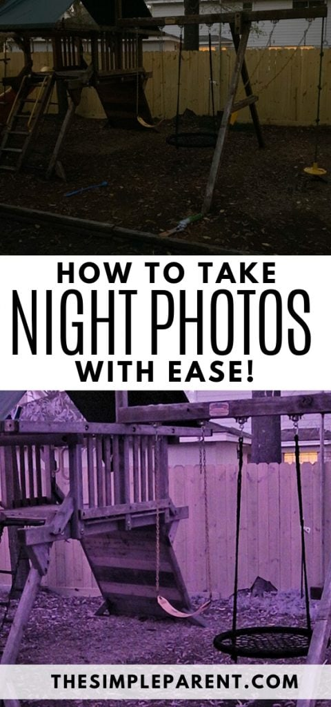 How to take night photos to capture low light family memories