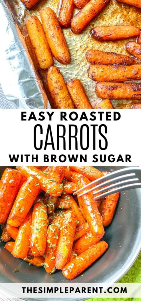 Brown Sugar Glazed Oven Roasted Carrots Side Dish Recipe