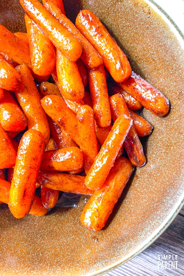 Bowl of Brown Sugar Glazed Carrots