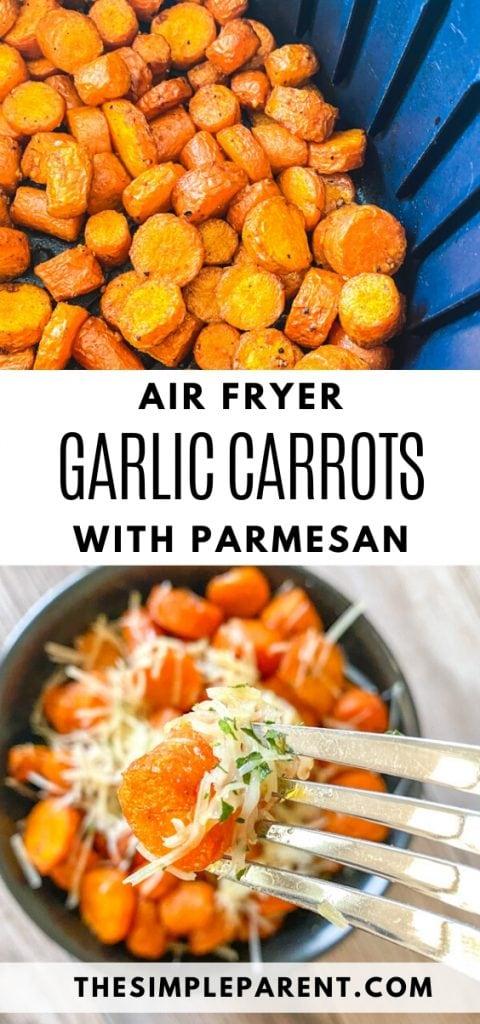 Garlic Parmesan Air Fryer Carrots Recipe