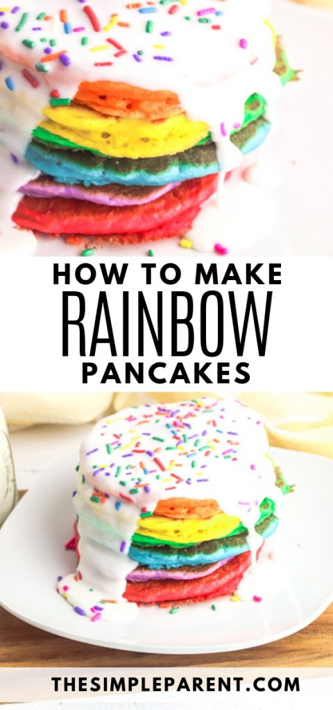 How to Make Colored Pancakes with an easy recipe