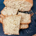 Bisquick Banana Bread Recipe on black cutting board