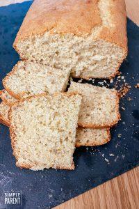 Bisquick Banana Bread Recipe on black cutting board