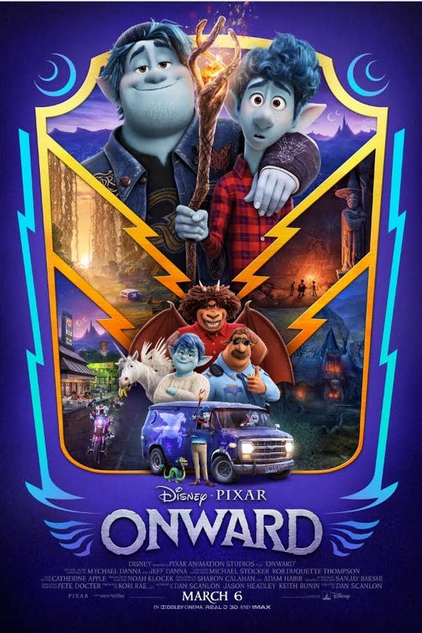 Disney and Pixar's Onward movie poster