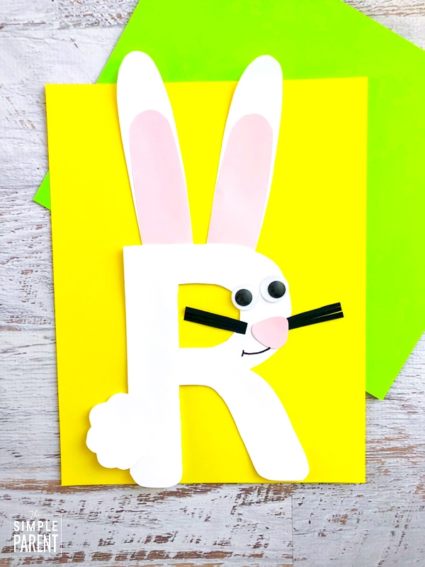 Letter of the Week craft - R is for Rabbit