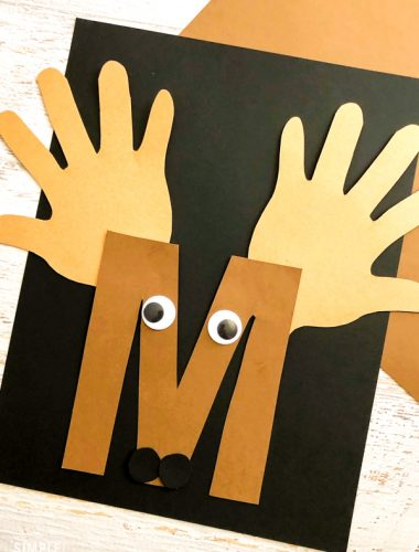 M Letter of the Week Craft - M is for Moose