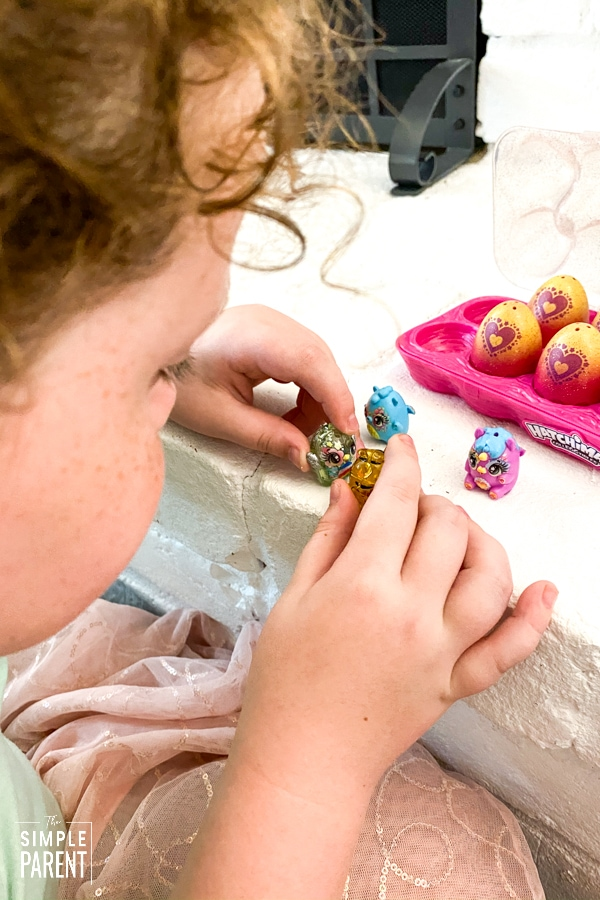Girl playing with Hatchimals CollEGGtibles